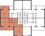 Планировка квартиры в секции (2 уровень)
