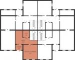 Планировка квартиры в секции (1 уровень)