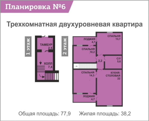 Планировка квартиры №6